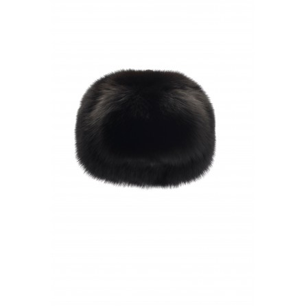 Leather Chinchilla Hat