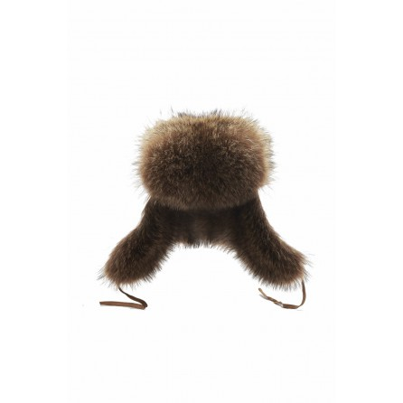 Brown Rabbitfur Ushanka