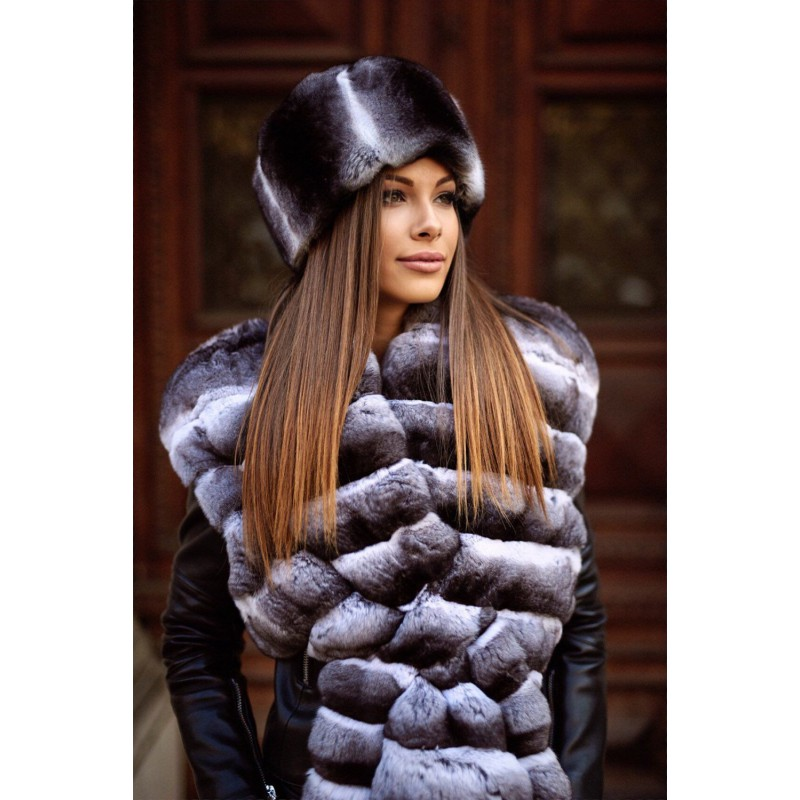 Chinchilla fur vest