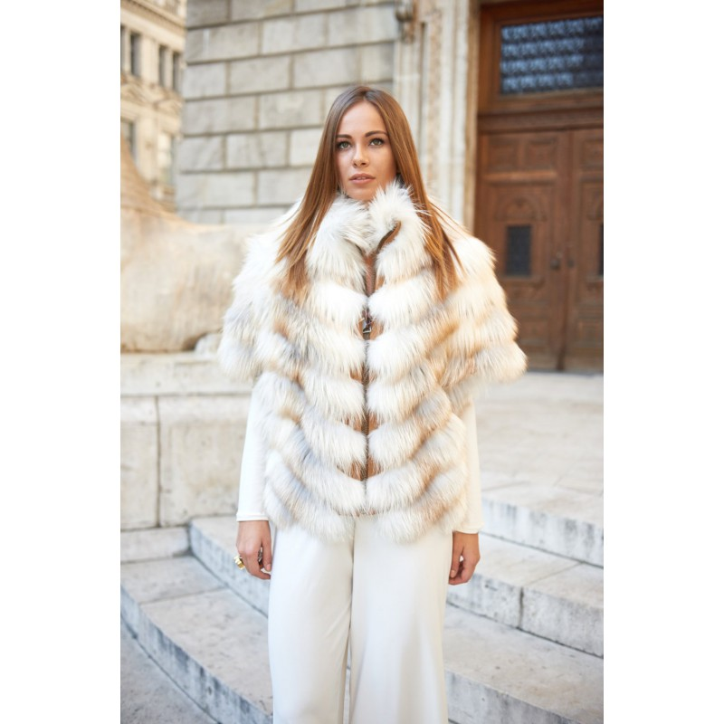 Platinum fox fur vest